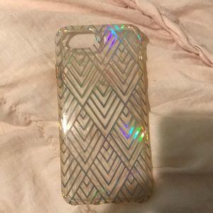 clear case with holographic design